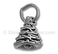 Sterling Silver 3D Christmas Tree Charm
