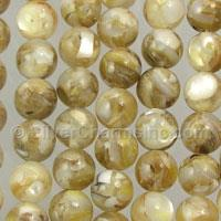 8mm Yellow Mother of Pearl