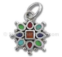 Enamel Multi Color Snowflake