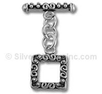 Square Silver Finding Toggle