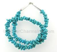 "18"" Sleeping Beauty Turquoise Nugget Necklace"