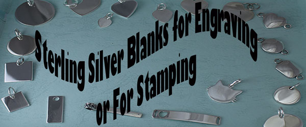 Sterling Silver Blanks for Engraving or for Stamping.